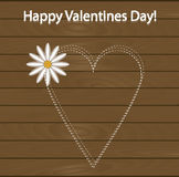 Festive poster happy Valentine's day. Pattern to decorate. Or design a greeting card or page for your scrapbook album or gift. Heart with chalk on the Stock Photo