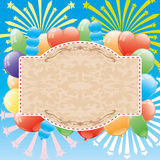 Festive poster. Vector illustration. Festive poster for your text Royalty Free Stock Images
