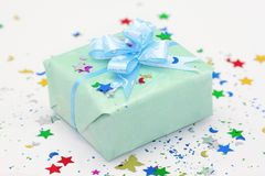 Festive present with ribbon Royalty Free Stock Photos