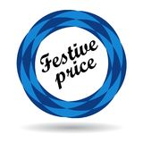 Festive price colorful icon. Festive price colorful web icon button of vector illustration on isolated white background with shadow Royalty Free Stock Photo