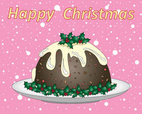 Festive pudding Royalty Free Stock Photography
