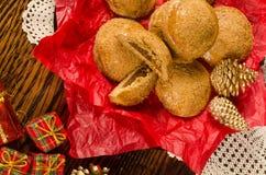 Festive pumpkin cookies Stock Images
