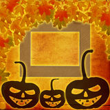 Festive pumpkin Halloween Day on the abstract paper background Royalty Free Stock Images