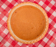 Festive Pumpkin Pie Stock Photo