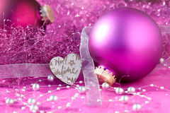 Festive Purple Bauble Royalty Free Stock Photography