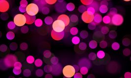 Festive purple bokeh background. Vector art illustration Royalty Free Stock Photography