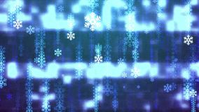 Snowflake snowfall glitched tv computer screen rain animation background new quality shape universal technology motion. Festive Rain animation background new