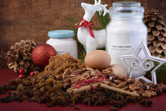 Festive raw cooking ingredients. Stock Photography