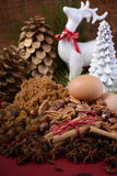 Festive raw cooking ingredients. Royalty Free Stock Image