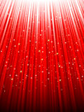 Festive red background. EPS 8. Festive red abstract background with stars descending on rays of light. EPS 8  file included Stock Photography
