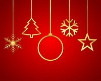 Festive Christmas background. Vector illustration Royalty Free Stock Image