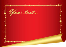 Festive red background with golden frame Royalty Free Stock Photos