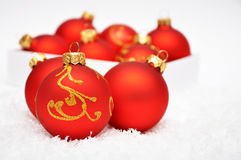 Festive red balls Royalty Free Stock Image