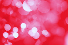Festive red bokeh Stock Photos