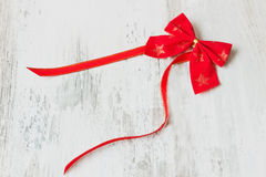 Festive red bow Royalty Free Stock Images
