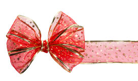 Festive red bow Stock Photo