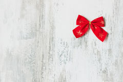 Festive red bow Royalty Free Stock Photography