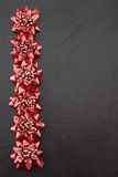 Festive red bows Royalty Free Stock Image