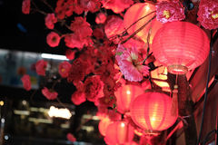 Festive red Chinese lanterns Stock Photo