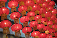 Festive red Chinese lanterns Royalty Free Stock Photo
