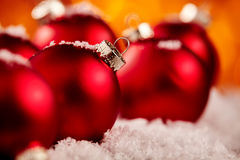 Festive red Christmas bauble background Royalty Free Stock Image