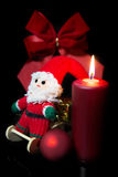 Festive red christmas decoration Stock Photos