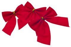 Festive Red Holiday Bows Stock Photography