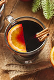 Festive Red Hot Spiced Wine For Christmas Stock Photography