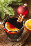Festive Red Hot Spiced Wine For Christmas Royalty Free Stock Images