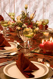 Festive Red Table Stock Photography