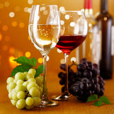 Festive Red and White Wine Stock Photography