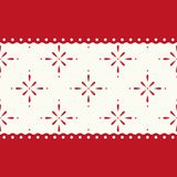 Festive retro Christmas background in traditional colors. For your decoration Stock Photography