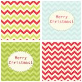 Festive retro Christmas backgrounds in traditional colors. For your decoration Stock Images