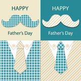 Festive retro greeting card for Father`s day. For your decoration Stock Images