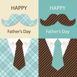 Festive retro greeting card for Father`s day. For your decoration Stock Photos