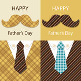 Festive retro greeting card for Father`s day Royalty Free Stock Photography