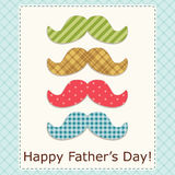 Festive retro greeting card for Father`s day. For your decoration Stock Image