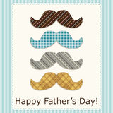 Festive retro greeting card for Father`s day. For your decoration Royalty Free Stock Images