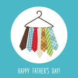 Festive retro greeting card for Father`s day. For your decoration Stock Photo