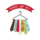 Festive retro greeting card for Father`s day. For your decoration Royalty Free Stock Photo