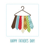 Festive retro greeting card for Father`s day. For your decoration Royalty Free Stock Image