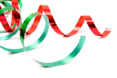 Festive ribbon. On white background Royalty Free Stock Photo