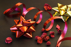 Festive ribbon bows Stock Photos