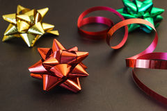 Festive ribbon bows Royalty Free Stock Images