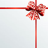 Festive ribbons and bow. Holiday design elements for Christmas, Valentines Day and Birthday Royalty Free Stock Photo