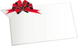 Festive ribbons and bows. Holiday ribbon and bows and banners frame for congratulations Stock Images