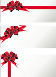 Festive ribbons and bows. Holiday ribbon and bows and banners frame for congratulations Royalty Free Stock Photos