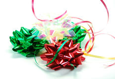 Festive ribbons and bows Stock Photo