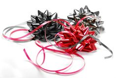 Festive ribbons and bows Stock Photos