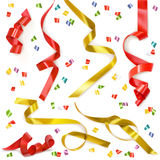 Festive ribbons elements. Festive ribbons  vector elements Stock Image